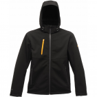 RE672 REGATTA Dropzone 3 rétegű SOFTSHELL  kabát  Black/Seal Grey